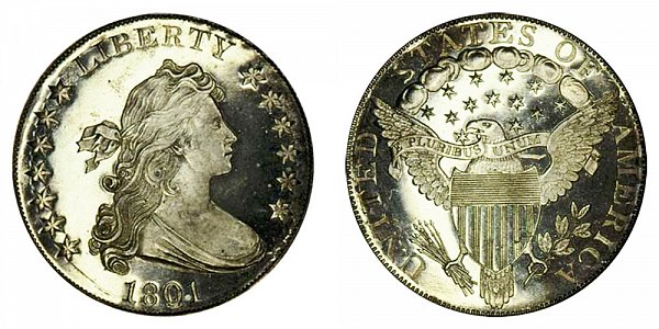 1801 Draped Bust Silver Dollar - Proof Restrike