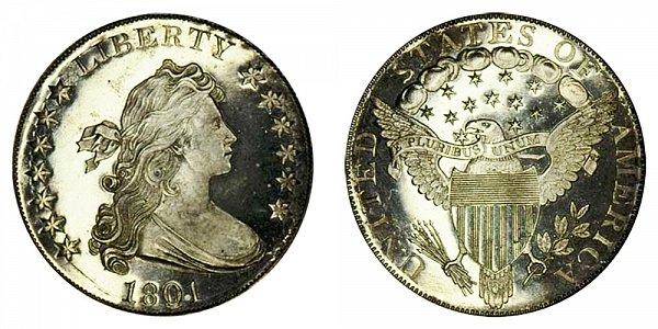 1801 Draped Bust Silver Dollar - Proof Restrike