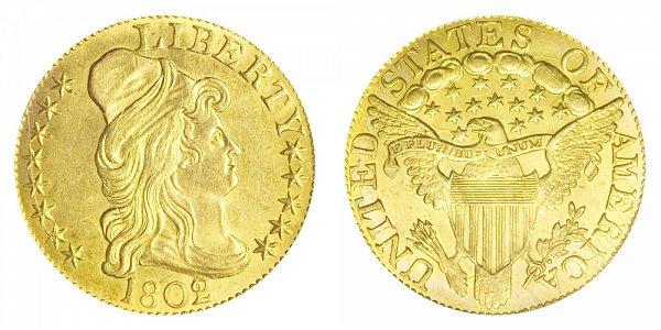 1802/1 Turban Head $5 Gold Half Eagle - Five Dollars