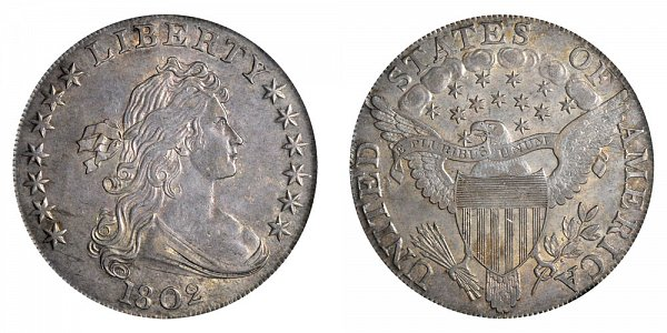 1802 Draped Bust Silver Dollar - Narrow Normal Date