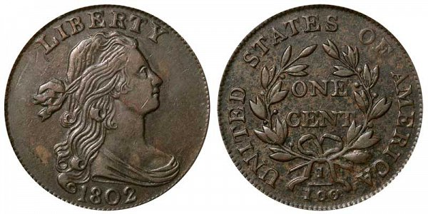 1802 Draped Bust Large Cent Penny - Varieties