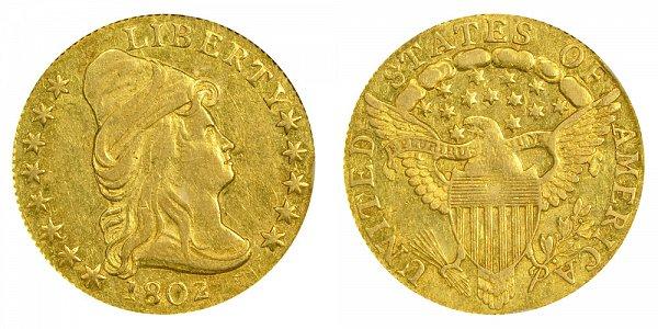 1802 Turban Head $2.50 Gold Quarter Eagle - 2 1/2 Dollars