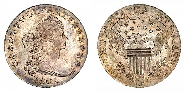1802 Draped Bust Silver Dollar - Wide Normal Date
