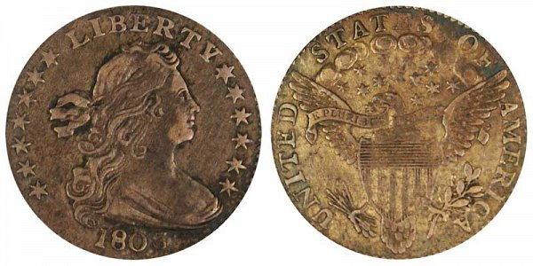 1803 Draped Bust Half Dime - Large 8