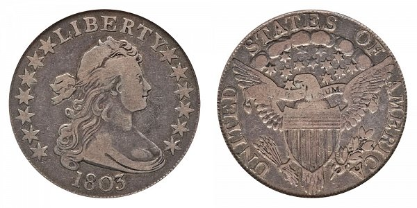 1803 Draped Bust Half Dollar - Small 3