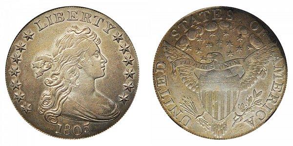 1803 Draped Bust Silver Dollar - Small 3