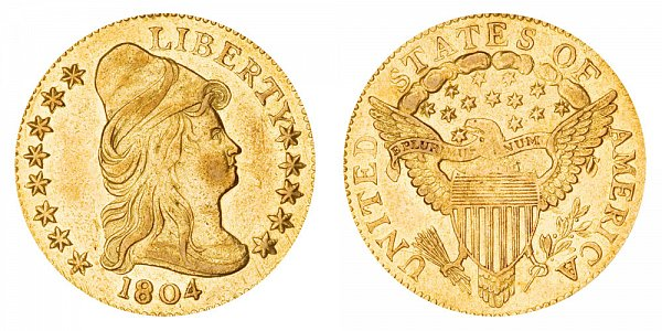 1804 Turban Head $2.50 Gold Quarter Eagle - 13 Star Reverse - 2 1/2 Dollars