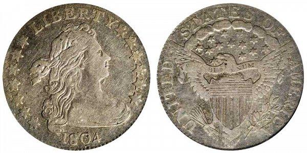 1804 Draped Bust Dime - 13 Stars