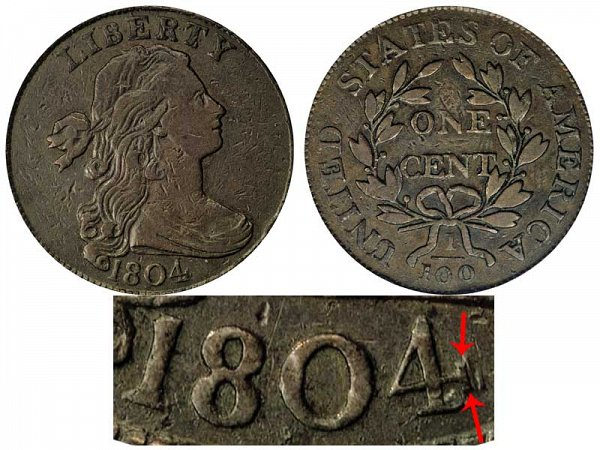 1804 Draped Bust Large Cent Penny