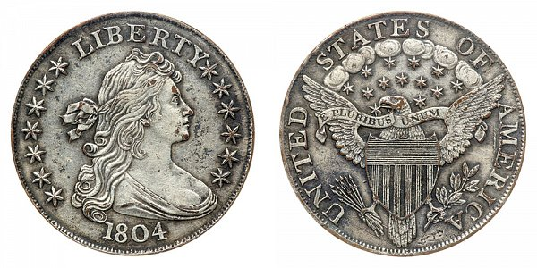 1804 Draped Bust Silver Dollar All Varieties Coin Value