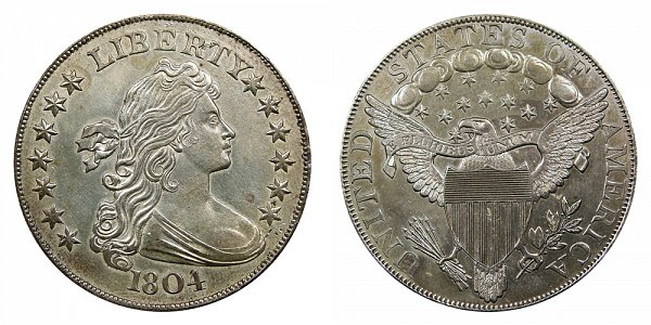 1804 Draped Bust Silver Dollar - Original Class I (Class 1)