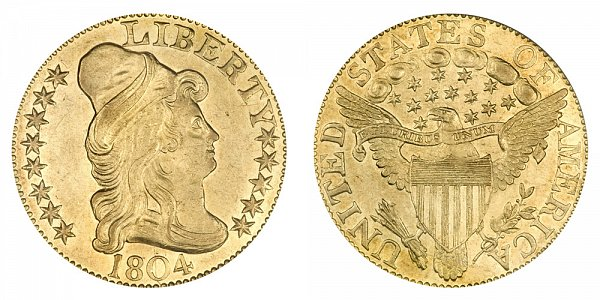 1804 Small 8 - Turban Head $5 Gold Half Eagle - Five Dollars