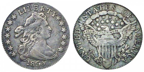 1805 Draped Bust Dime - 5 Berries