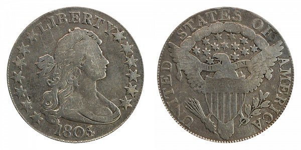 1805/4 Draped Bust Half Dollar - 5 Over 4 Overdate