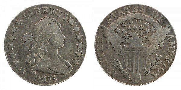 1805/4 Draped Bust Half Dollar - 5 Over 4 Overdate