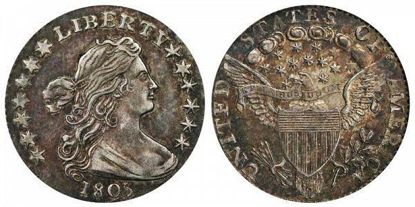 1805 Draped Bust Half Dime