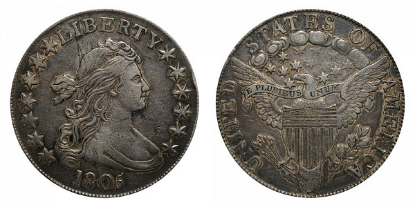 1805 Draped Bust Half Dollar - Normal Date