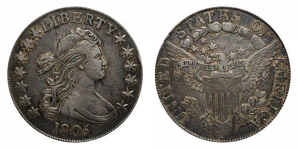1805 Draped Bust Half Dollar - Normal Date