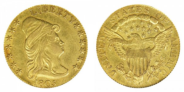 1805 Turban Head $2.50 Gold Quarter Eagle - 2 1/2 Dollars