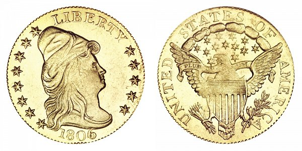 1806/4 Turban Head $2.50 Gold Quarter Eagle - 8X5 Stars