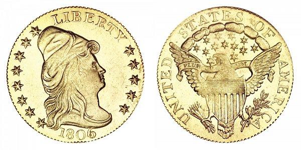 1806/4 Turban Head $2.50 Gold Quarter Eagle - 8X5 Stars