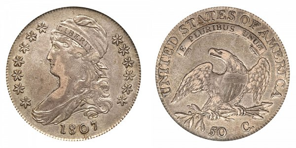 1807 Capped Bust Half Dollar - Small Stars