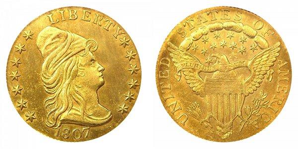 1807 Turban Head $2.50 Gold Quarter Eagle - 2 1/2 Dollars