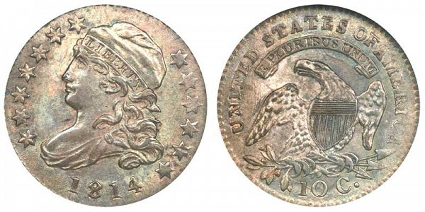1814 Small Date Capped Bust Dime
