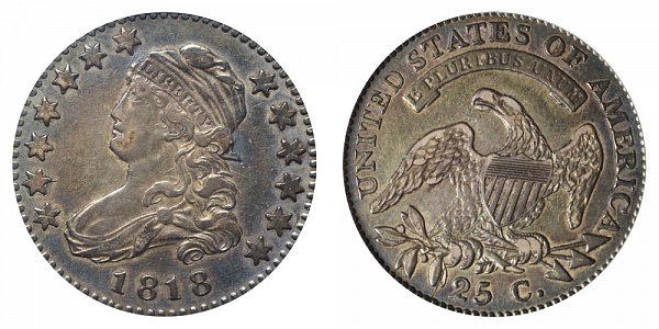 1818 Capped Bust Quarter - Normal Date