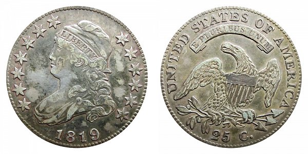 1819 Capped Bust Quarter - Large 9