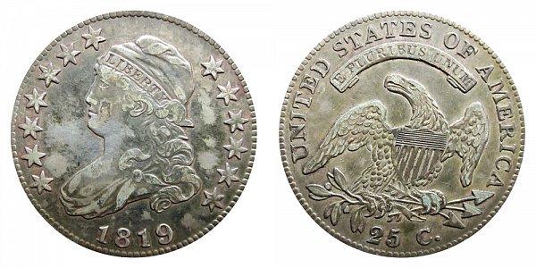 1819 Capped Bust Quarter - Large 9