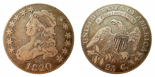 1820 Capped Bust Quarter - Small 0