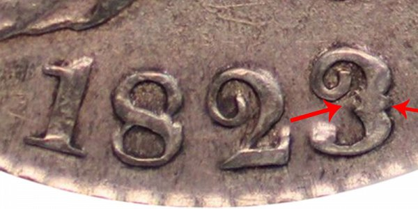 1823 Capped Bust Half Dollar - Patched 3
