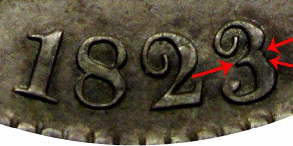 1823 Capped Bust Half Dollar - Tampered 3