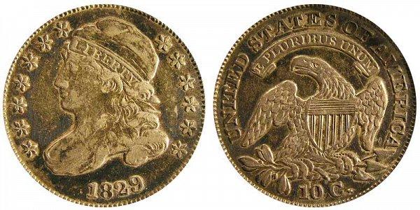 1829 Medium 10C Capped Bust Dime