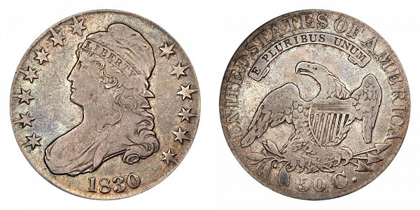1830 capped Bust Half Dollar - Large Letters