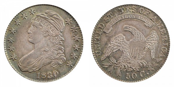1830 Capped Bust Half Dollar - Small 0