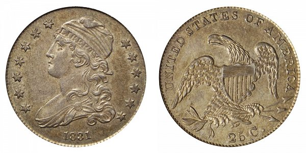 1831 Capped Bust Quarter - Large Letters