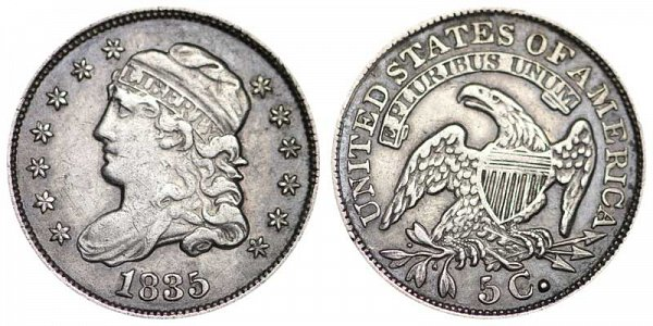 1835 Capped Bust Half Dime - Large Date Small 5C