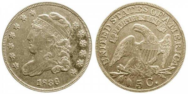 1836 Capped Bust Half Dime - Large 5C