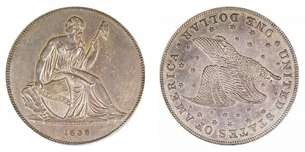 1836 Original Gobrecht Dollar - Die Alignment 1 - Stars on Reverse - Name On Base