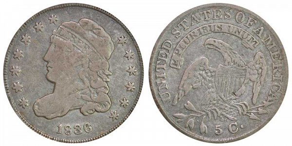 1836 Capped Bust Half Dime - Small 5C