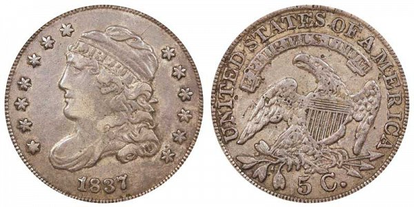 1837 Capped Bust Half Dime - Large 5C