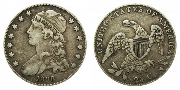 1838 Capped Bust Quarter