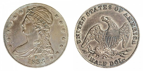 1838 O Capped Bust Half Dollar - New Orleans