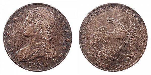 1839 O Capped Bust Half Dollar