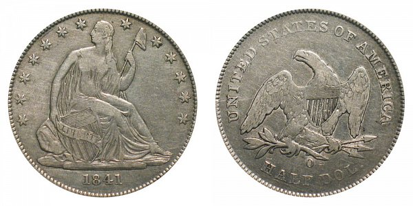 1841 O Seated Liberty Half Dollar
