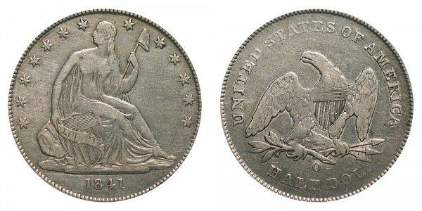 1841 O Seated Liberty Half Dollar