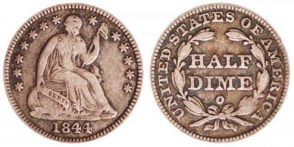 1844 O Seated Liberty Half Dime