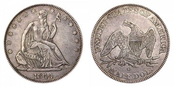 1844 O Seated Liberty Half Dollar